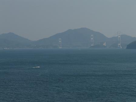 大角海浜公園からの景色 来島海峡大橋