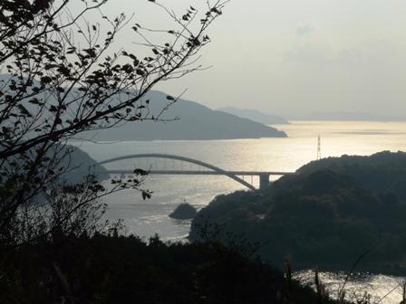 開山公園 紅葉と大三島橋 2