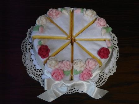 フェルト ウェディングケーキ 2