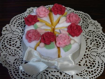 フェルト ウェディングケーキ 5