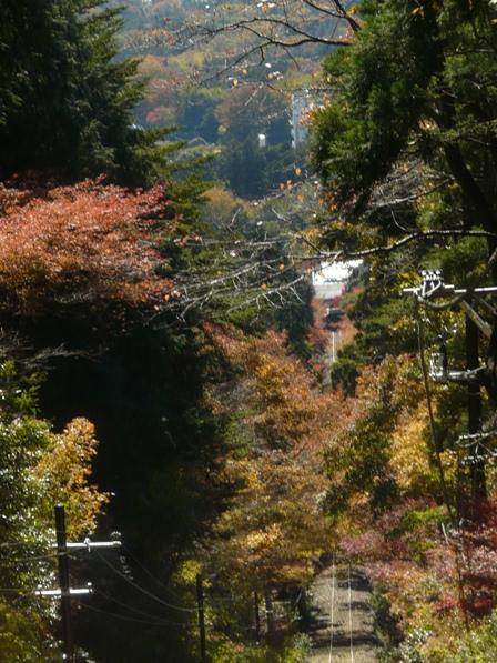 筑波山ケーブルカーから 7