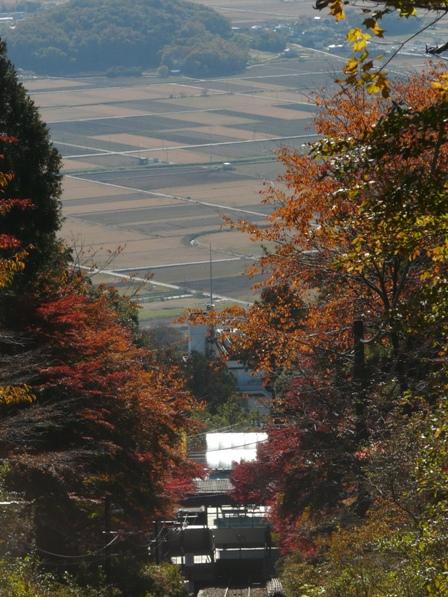 筑波山ケーブルカーから 9