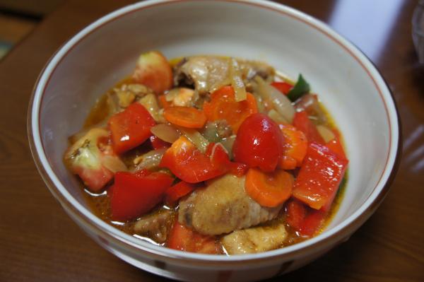 自炊、夕飯: タイ料理の「チキン・パープリック = chicken paprik」