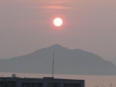 夕陽、6:5