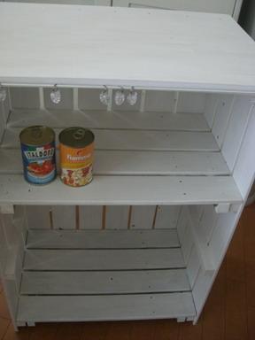 キッチンすのこ棚