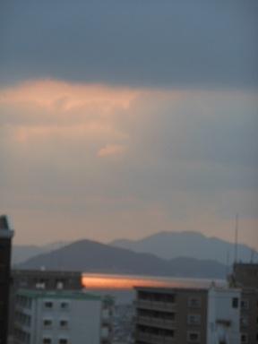 10日の夕焼け