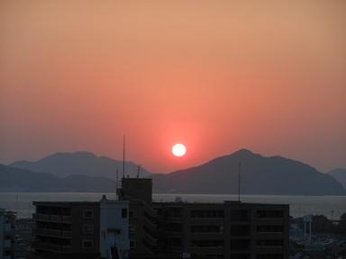 17日夕陽