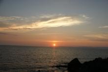 ばんちゃんの旅案内 -日本全国自走の旅--新潟の夕日