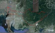 ばんちゃんの旅案内 -日本全国自走の旅--行程