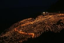ばんちゃんの旅案内 -日本全国自走の旅--千枚田あぜの万燈