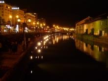 ばんちゃんの旅案内 -日本全国自走の旅--小樽運河の夜景