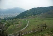 ばんちゃんの旅案内 -日本全国自走の旅--挟霧台から日田街道を望む