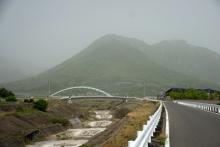 ばんちゃんの旅案内 -日本全国自走の旅--水無川と普賢岳