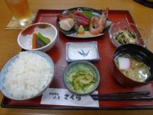 ばんちゃんの旅案内 -日本全国自走の旅--八重さくらでの夕食