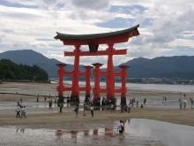 ばんちゃんの旅案内 -日本全国自走の旅--厳島神社の鳥居