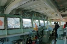 護衛艦の操縦室