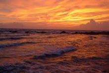 ばんちゃんの旅案内 -日本全国自走の旅--種子島の夕焼け空