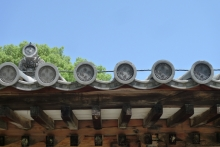 ばんちゃんの旅案内 -日本全国自走の旅--唐招提寺の瓦