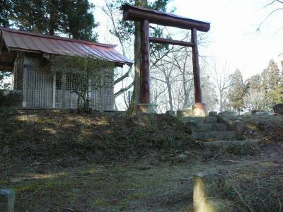 主郭にある神社
