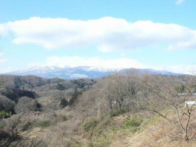 二本松城の西側の眺め
