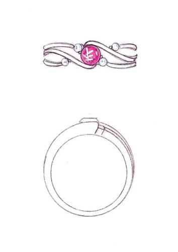 レッドベリル指輪