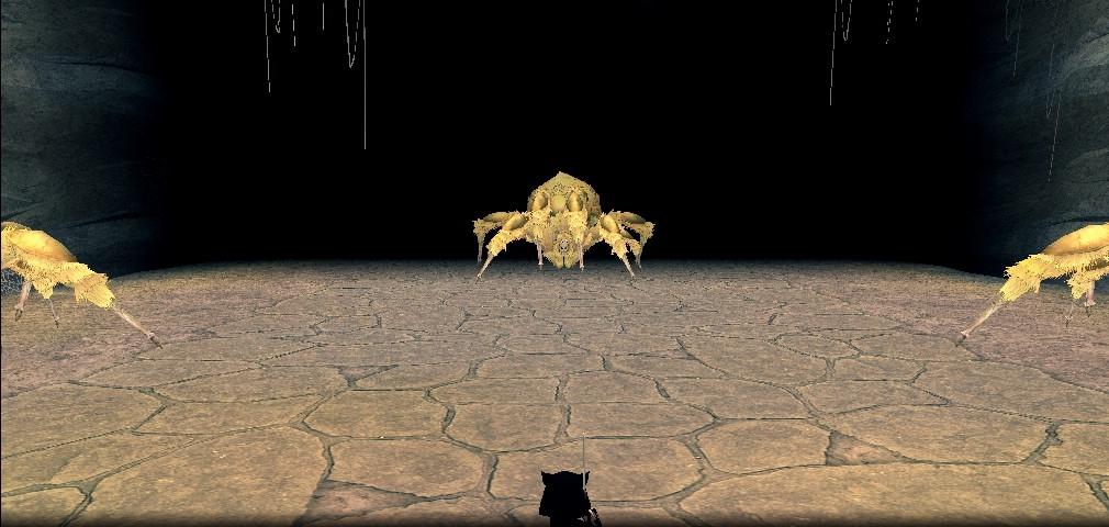 黄色い色したさわやか系クモ
