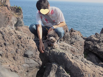 ジジさん城ヶ崎海岸へ20140929-4
