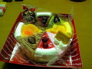 クリスマスケーキ 8種のアソートケーキ