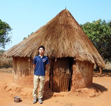ザンビアの伝統的家屋