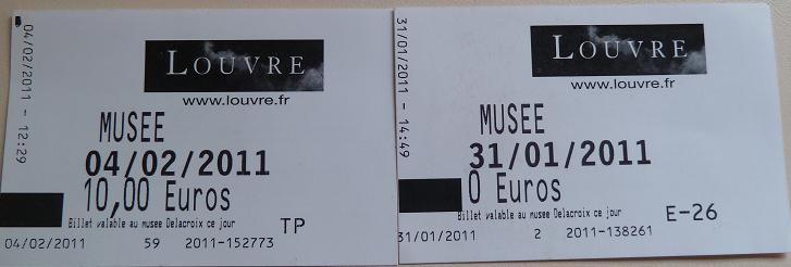 les tickets de Museacute;e