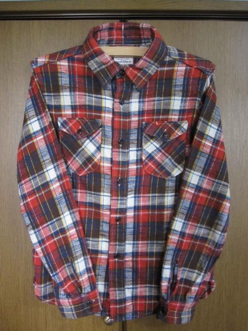 UES 先染スラブネルシャツ