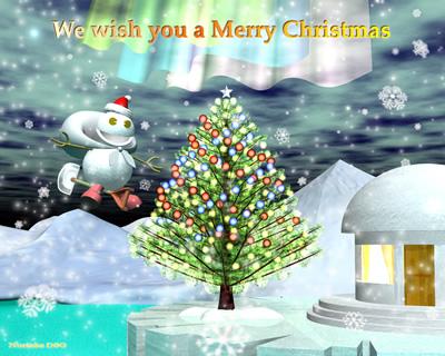 3DCGクリスマス用壁紙2011