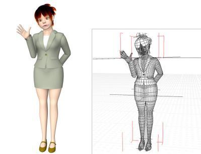 3DキャラクターOLアヒル口1110
