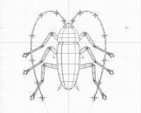 3D簡易ゴキブリワイヤーフレーム1