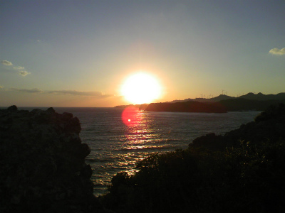 タライ岬からの夕日