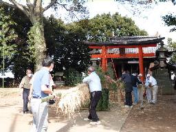 鷺栖神社⑤総出で