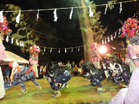 鷺栖神社獅子舞⑦