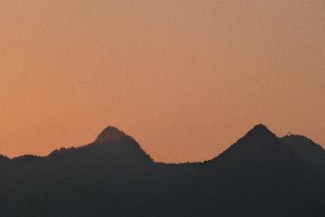 榛名山の夕景①