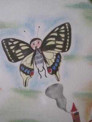 蝶々とけむり