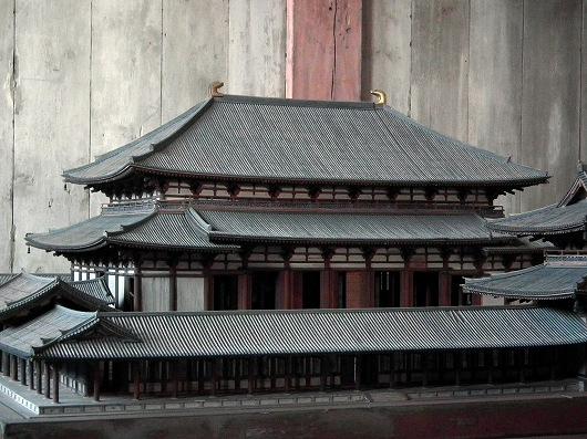 東大寺大仏殿模型-20111229