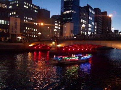 きらきら電飾のボート☆土佐堀川
