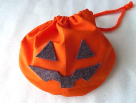 ハロウィンかぼちゃ巾着