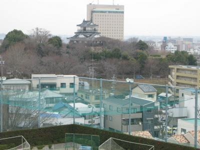 校庭から浜松城