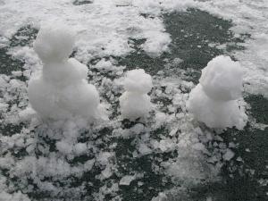 雪だるまの親子