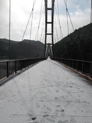 雪の船明(ふなぎら)ダム