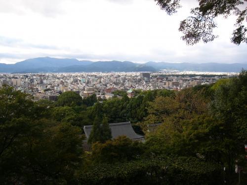 京都霊山護国神社からの京都市内