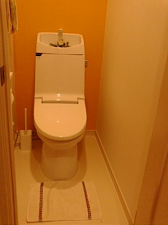 トイレマット撤去する。