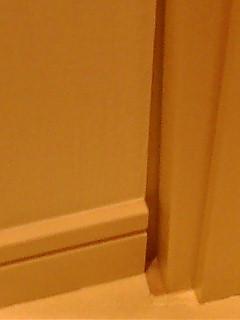 トイレの隙間。