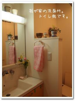 洗面所..トイレ側。