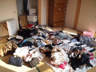 私の衣類すべて。